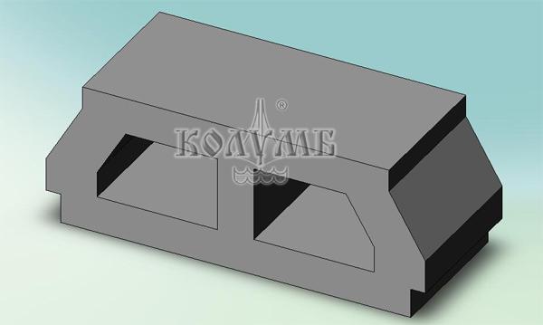 Блок сборно-монолитного перекрытия МАРКО изготовлен из полистиролбетона
