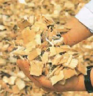 В составе СЦП 90% щепы тонкомерной низкосортной древесины.